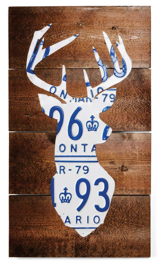 Deer Head Licence Plate 12 X 22 Route 401 Anthony Kentris From Toronto On License Plate Decor License Plate Art License Plate Crafts