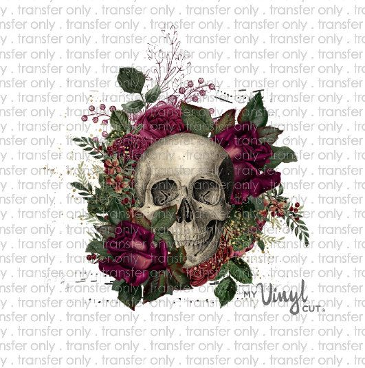 Skull Anatomy Vinyl Sticker Waterproof Decal