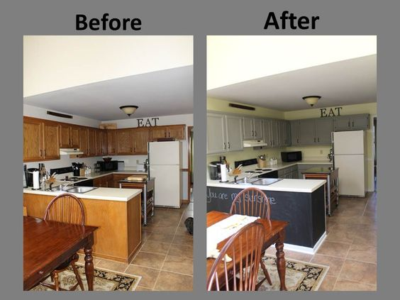 Best Yellow Gray Kitchen Remodel Before After Kitchen 400 x 300