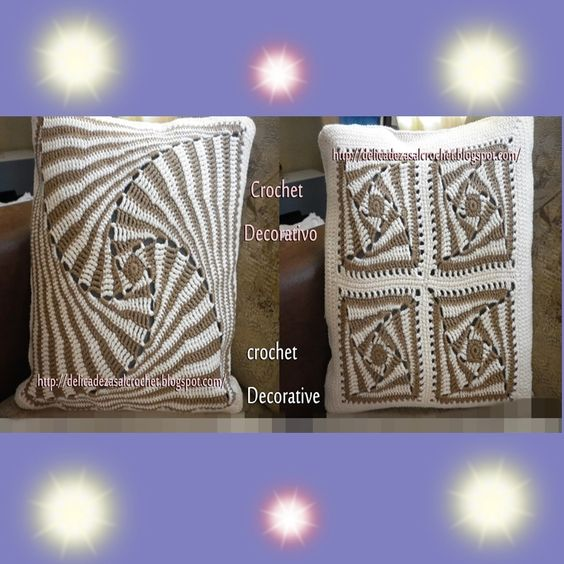 Delicadezas en crochet Gabriela: Cojin de motivos