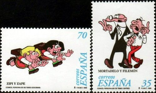 Sellos - Países - España - SEGUNDO CENTENARIO - 1998 - 3531-32 - CÓMICS. PERSONAJES DE TEBEO. - **