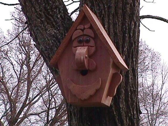 Old man birdhouse
