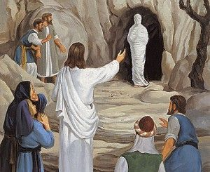 Jesus with calling Lazarus from the tomb which he had been buried in four days previous. Jesus called him back to life.