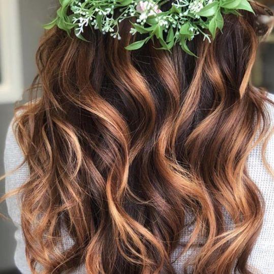 chestnut hair