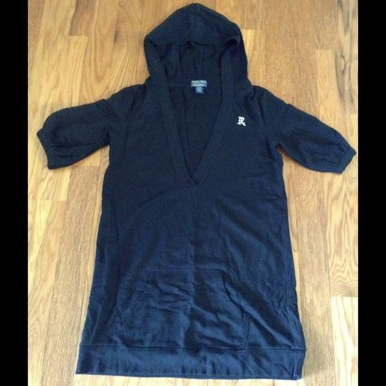 CLEARANCEBlack polo dress Stretchable fabric, 100% cotton. One wide pocket on the bottom of front and a hood. Prefect condition Polo by Ralph Lauren Dresses