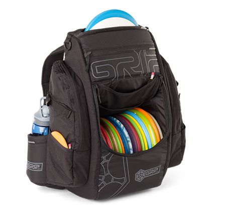 The Grip EQ B15 disc golf bag evolves the state of the art in disc golf bag innovation with an 18 disc compartment and adjustable 2 disc putter quiver.
