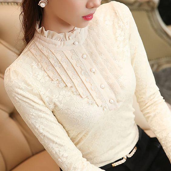 Veludo-engrosse-Lace-blusa-2015-moda-mulheres-Tops-blusas-camisa-Chiffon-renda-de-manga-comprida-Plus.jpg (800×800)