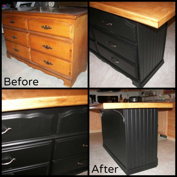 Recycled Door Old Dressers And Kitchen Islands On Pinterest