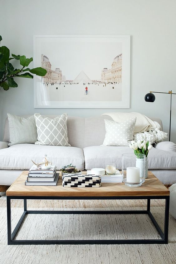 120+ Apartment Decorating Ideas   Round mirrors, Ottomans and ...