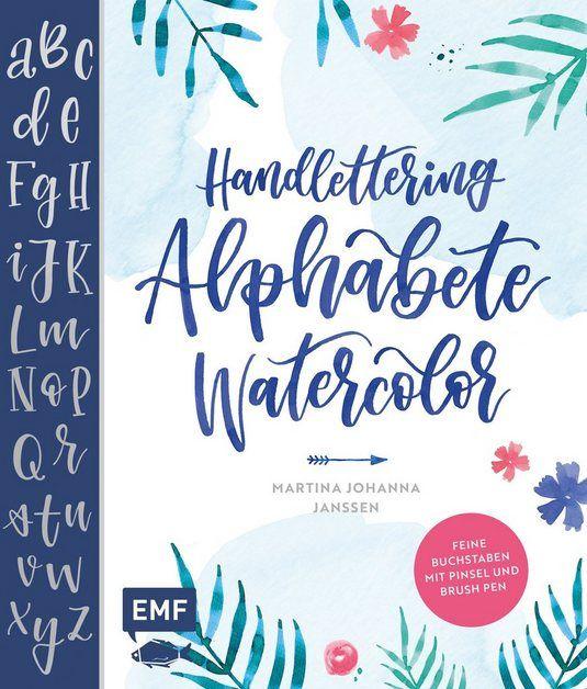 Buch Handlettering Alphabete Watercolor 128 Seiten Alphabet