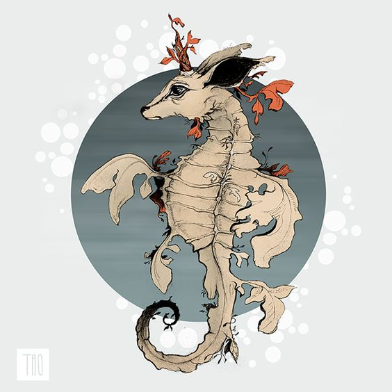 51. Hippocampus ForestDeer by Olga Tarasova, via Behance