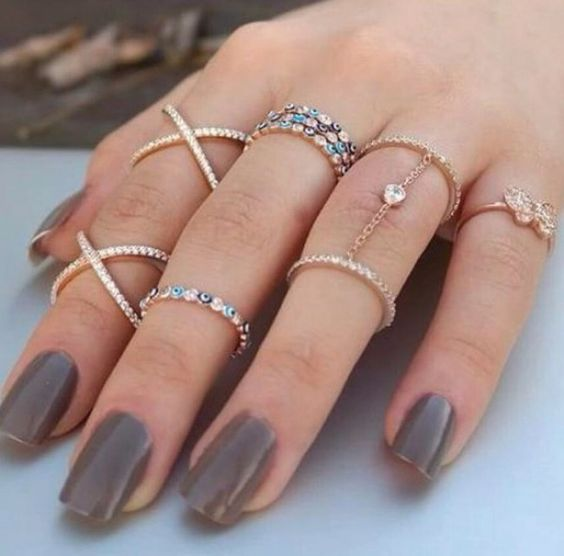 Make a statement crystal midi ring in silver or gold: