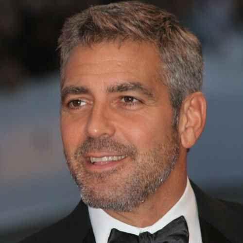 George Clooney Frisur 2018 George Clooney Haircut Grey Hair Men Haircuts For Men