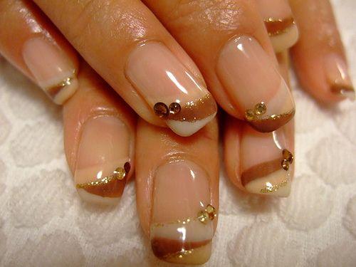 Warm color manicure - love! <3