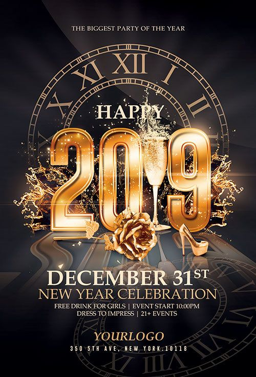 Elegant New Year Flyer Template Psd By Creativeflyers Flyer Template Photoshop Template Design Free Psd Flyer Templates