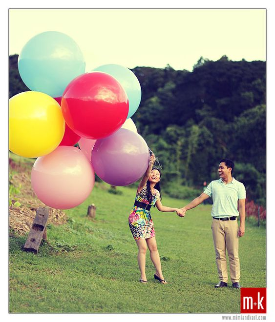 """Giant balloons (36"""") Red, turquoise, and white."""