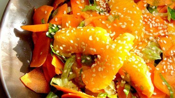 Salada de cenoura e laranja