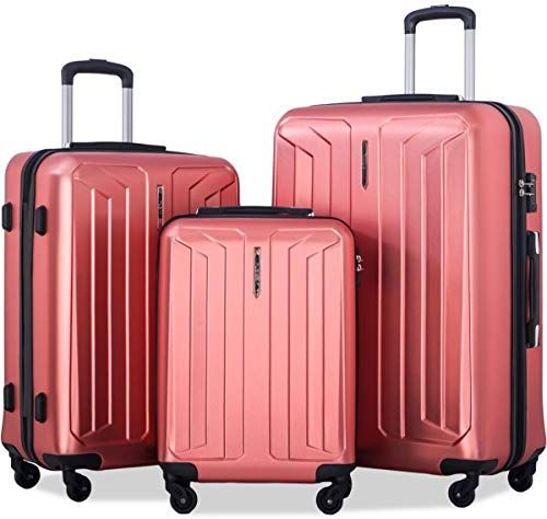 Red 20//24//28in High//Low Temperature Resistance Flieks 3 Piece Luggage Set Spinner Suitcase TSA Approved