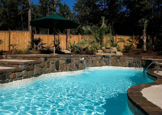 Blue Hawaiian Fiberglass Pools and Spas | Natural