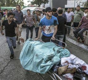 Informazione Contro!: Gaza, strage di bambini otto morti al parco giochi...