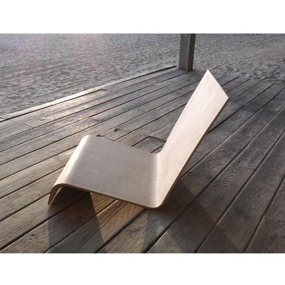 Chaise longue en bois design - Atelier Assis, Autre