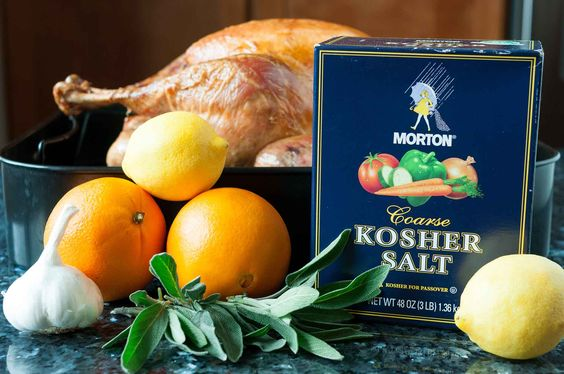 Simple turkey brine infused with sage and citrus. Makes a super moist, flavorful Thanksgiving turkey! Brine for 12 to 24 hours before cooking.