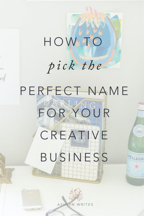 Writing services business names