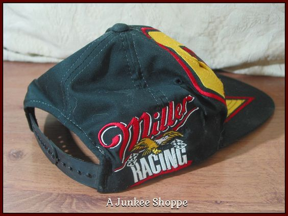 RUSTY WALLACE 1996 Miller Beer #2 Nascar Racing Midnight Black Cap Hat Unused  Junk0922  http://ajunkeeshoppe.blogspot.com/
