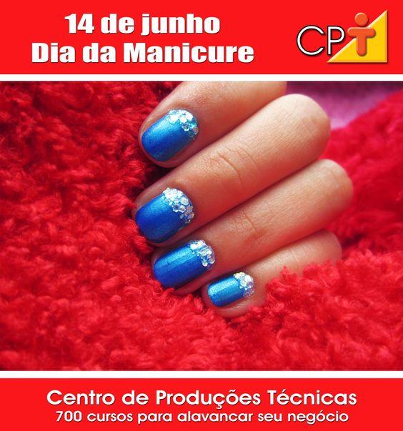 Dia 14 de junho - Dia da Manicure: Blue Blue, Pretty Nails, Nails Nails Nails, Hair Nails, Winter Nails, Nail Art, Nails 3, Blue Nails