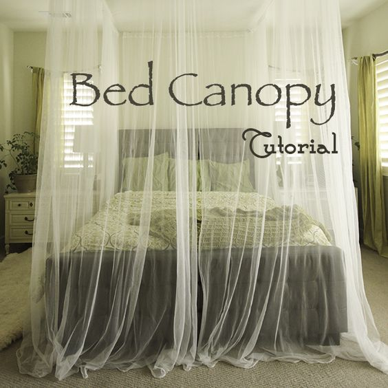 Step by step diy guid to crate your own canopy love this for Build your own canopy bed