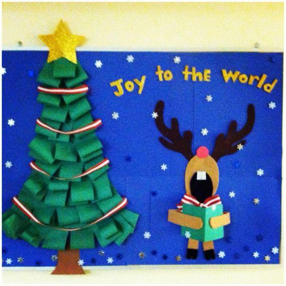 Board Decoration For Christmas: Christmas Door, Christmas Bulletin Boards And Christmas