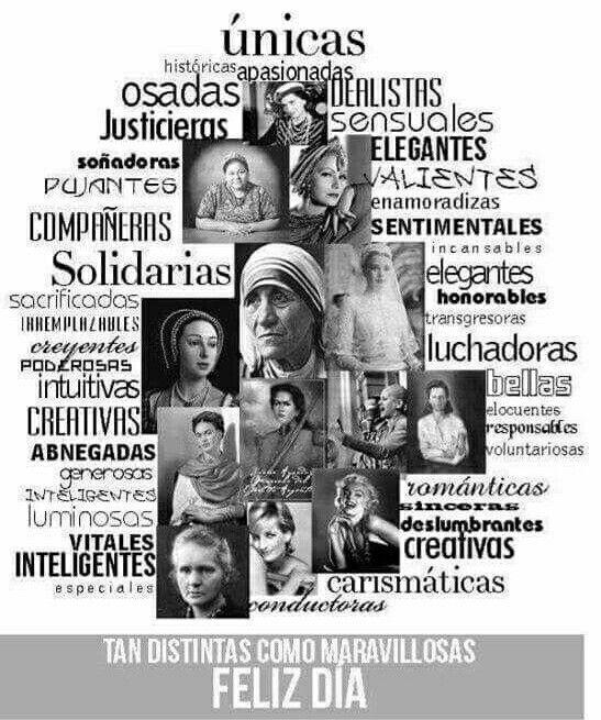 Pin De Maura Cruz En Creacion De Dios Feliz Dia De La Mujer Frases De Chaplin Feliz Dia