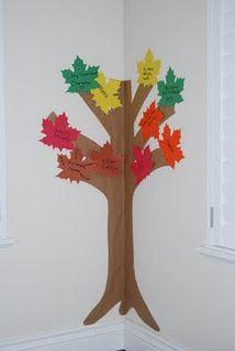 Gratitude tree for thanksgiving: