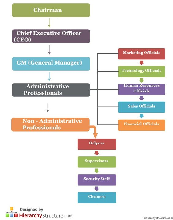 Business Staff Hierarchy Business Hierarchy Pinterest