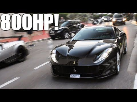 Black Ferrari 812 Superfast In Monaco Start Up And Driving Youtube In 2021 Ferrari Black Monaco