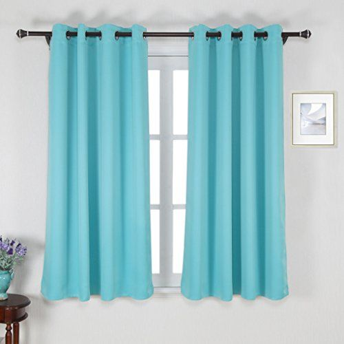 Curtains Ideas buy insulated curtains : Nicetown Window Treatment Thermal Insulated Solid Grommet Blackout ...