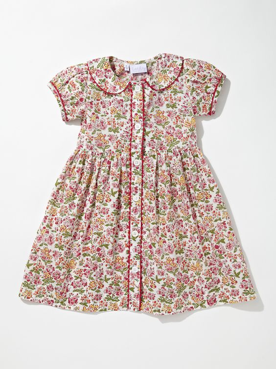 Floral Button Front Dress by Rachel Riley at Gilt