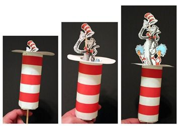 Cat in the hat with a toilet paper roll - Re-pinned by @PediaStaff – Please Visit ht.ly/63sNt for all our pediatric therapy pins