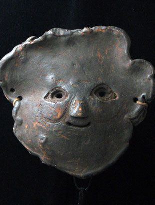 Himalayan Shamans Mushroom mask from Middle Hills, Nepal: