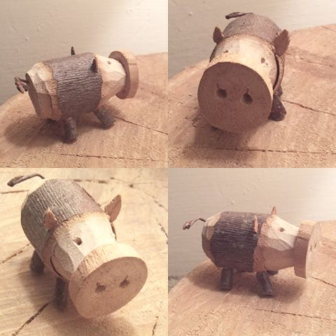 wald°sinnen: Waldglücksschweinchen - Schnitzen mit Kindern zwischen den Jahren
