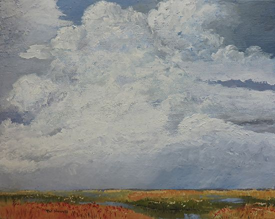 "LN-Clouds III by Pat Newell Oil ~ 8"" x 10"""