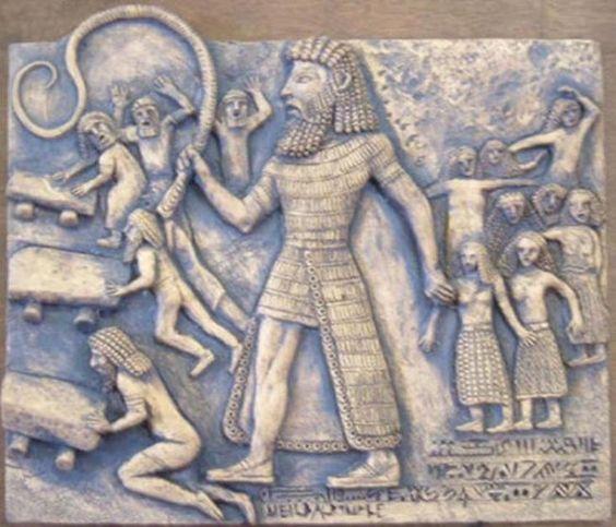 El gigante de Gilgamesh, el quinto rey de la ciudad sumeria de Uruk. Fue dado a esclavizar y maltratar a los hombres y explotar sexualmente a las mujeres