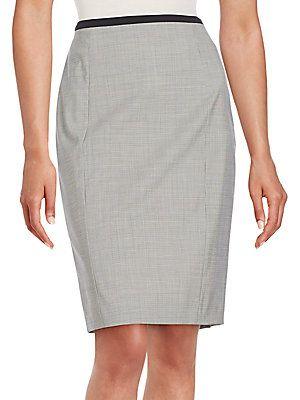 Boss Hugo Boss Vabina Pencil Skirt - Grey - Size 12