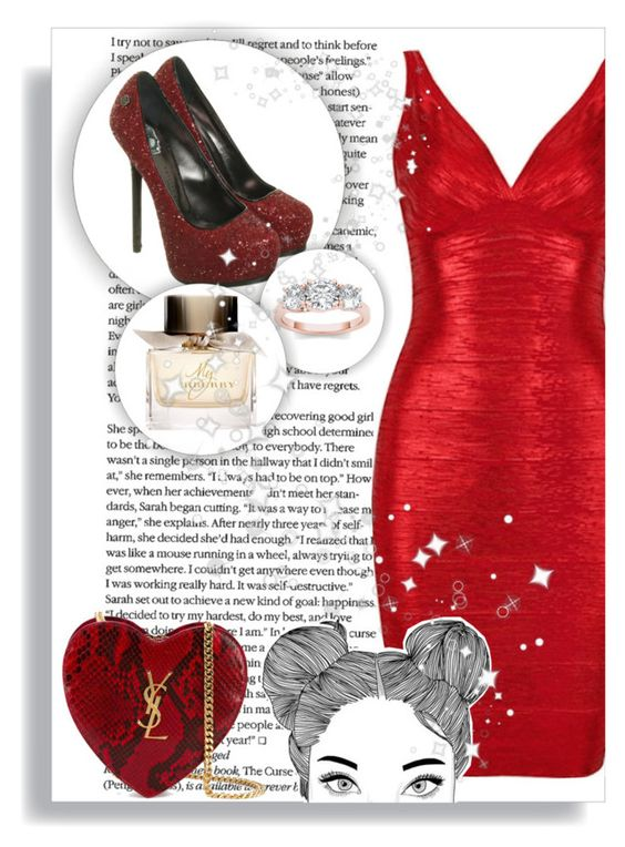 """""""~Gala~"""" by clo-23 ❤ liked on Polyvore featuring Philipp Plein, Modern Bride, Yves Saint Laurent and Burberry"""