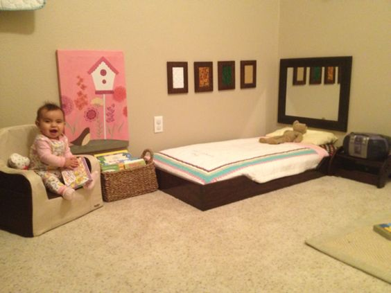 floor beds montessori and floors on pinterest. Black Bedroom Furniture Sets. Home Design Ideas