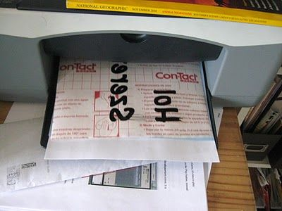 Printing directly on contact paper to use as a sticker
