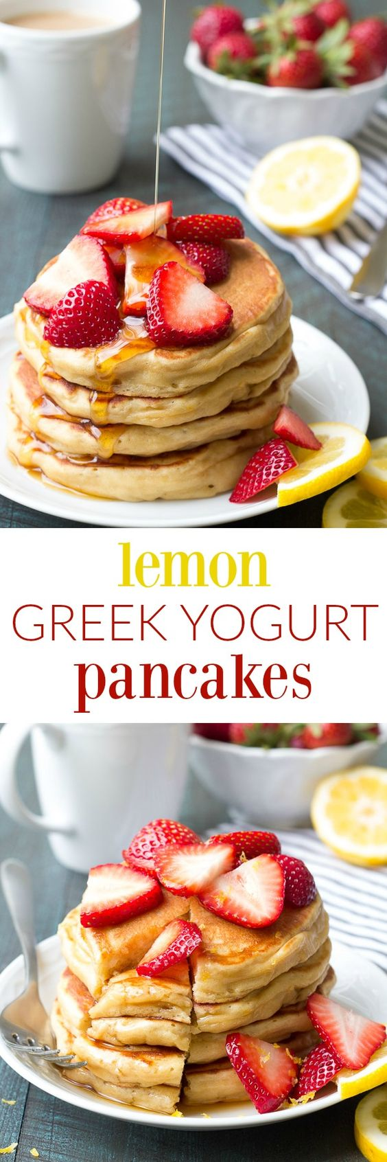 Greek yogurt pancakes, Yogurt pancakes and Healthy pancake recipe on ...