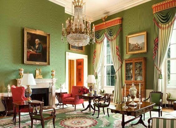 Salon vert de la Maison Blanche. Washington D.C.