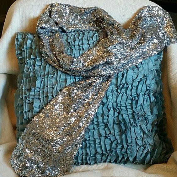 INC International Concepts silver sequin scarf Gorgeous silver sequin scarf...BRAND NEW! Perfect for a night out on the town! NWT INC International Concepts Accessories Scarves & Wraps
