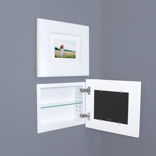 Landscape Shaker White Recessed Picture Frame Medicine Cabinet 14 W X 11 H Recessed Cabinet Recessed Medicine Cabinet Picture Frames